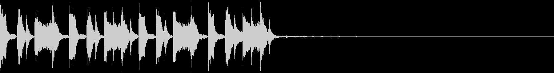 コミカルなトラップジングル4の未再生の波形