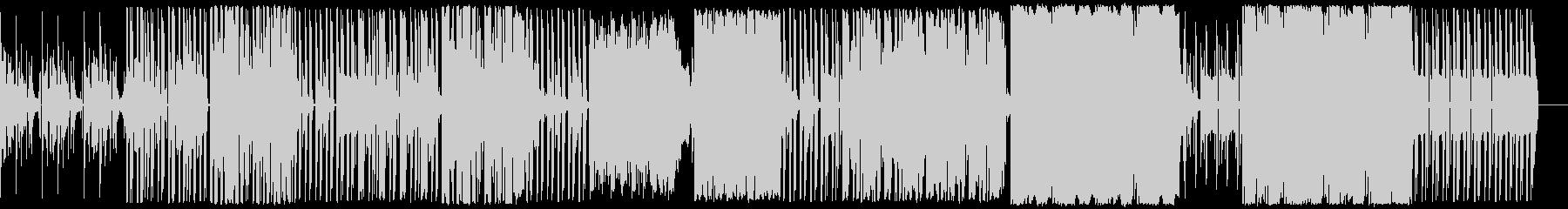 汎用性の高いサイバー感のあるBGMの未再生の波形