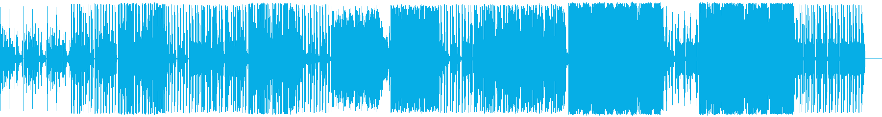 汎用性の高いサイバー感のあるBGMの再生済みの波形
