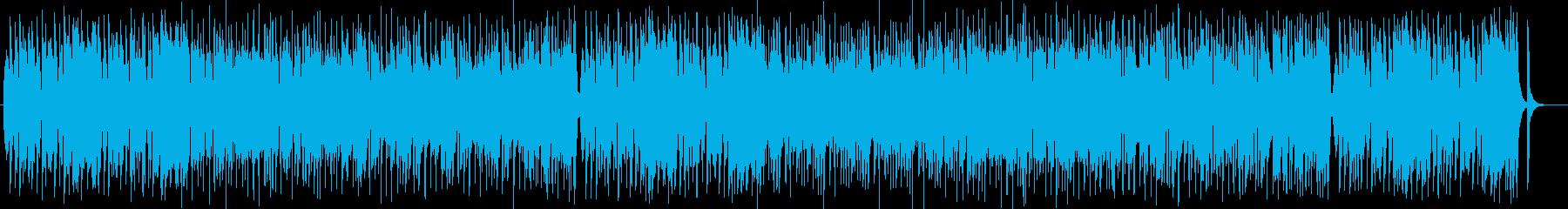 可愛く楽しげなシンセサイザーサウンドの再生済みの波形