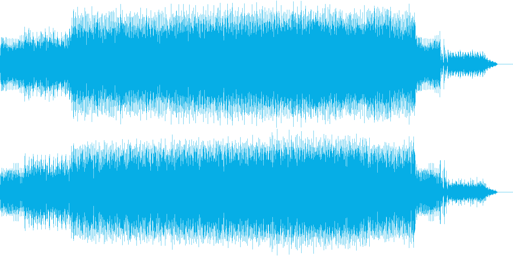 楽しげで軽快なインストの再生済みの波形