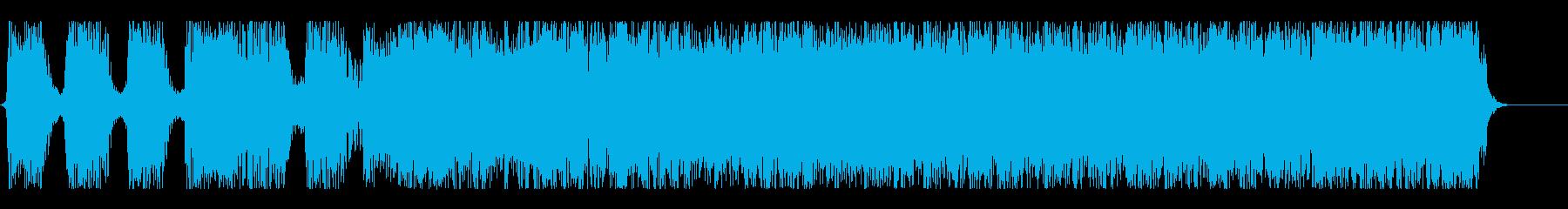 ハードコア風ショートサウンド#02の再生済みの波形