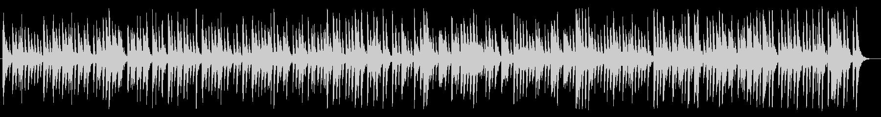 ほのぼの、のんびり明るいピアノBGMの未再生の波形