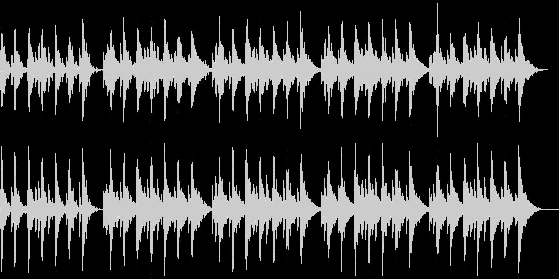 シンセの心地よいBGMの未再生の波形
