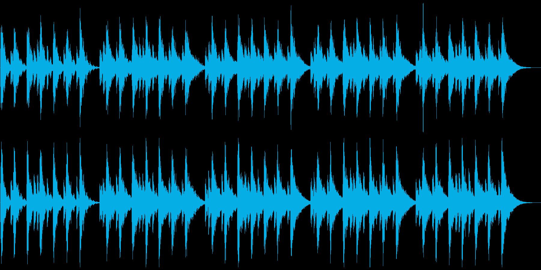 シンセの心地よいBGMの再生済みの波形