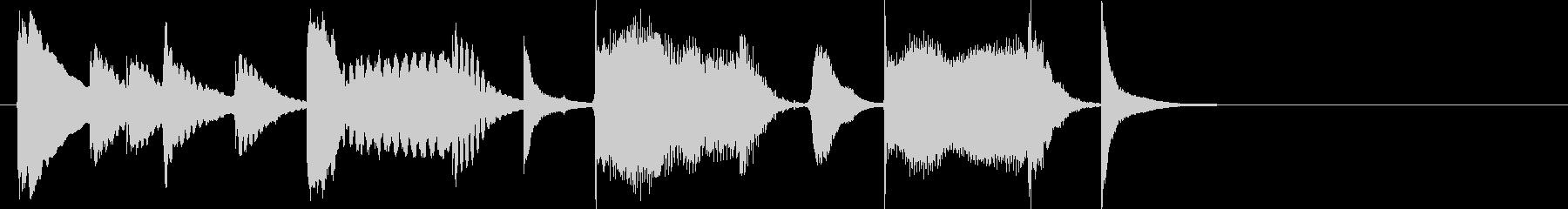 脱力&まぬけなジングルの未再生の波形