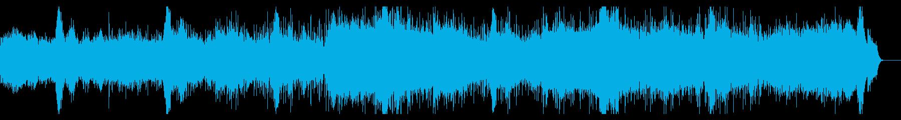 うなる陰鬱なアンビエントテクスチャの再生済みの波形