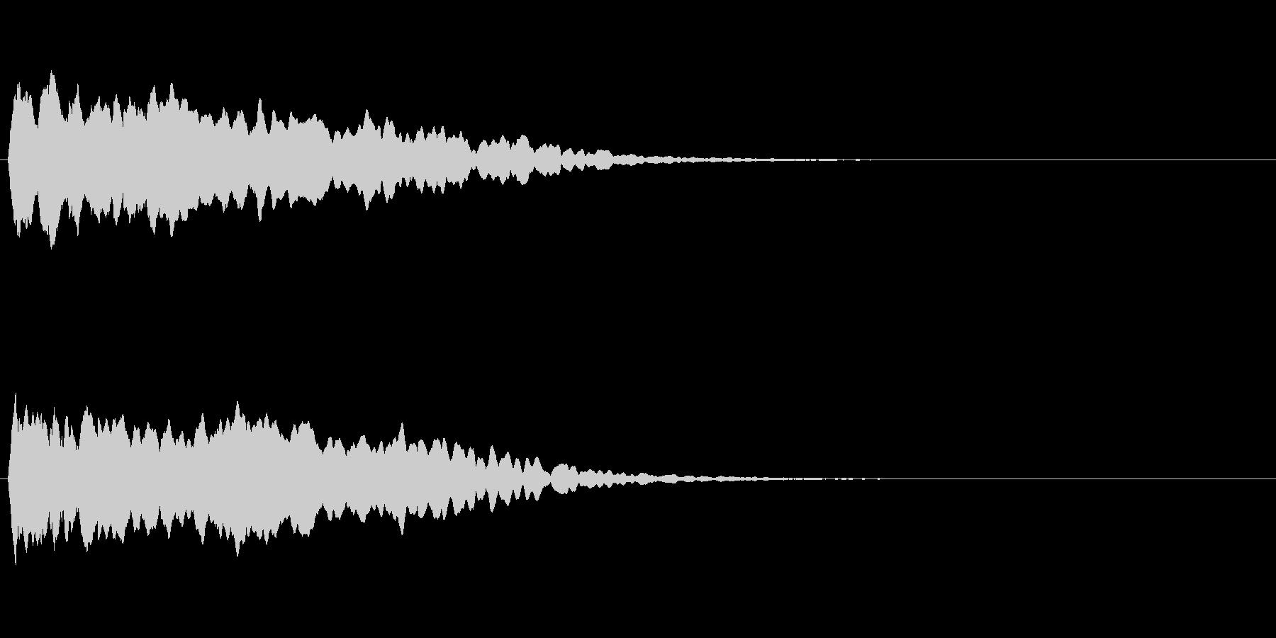 トレーラー用シネマチックアラーム・ピン3の未再生の波形