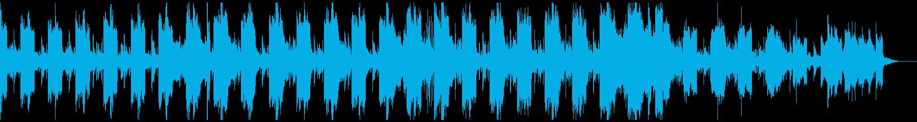 フューチャーベース風のゲーム用BGMの再生済みの波形