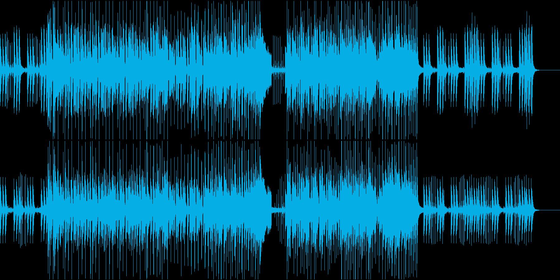日常シーンに使えるほのぼのとしたBGMの再生済みの波形