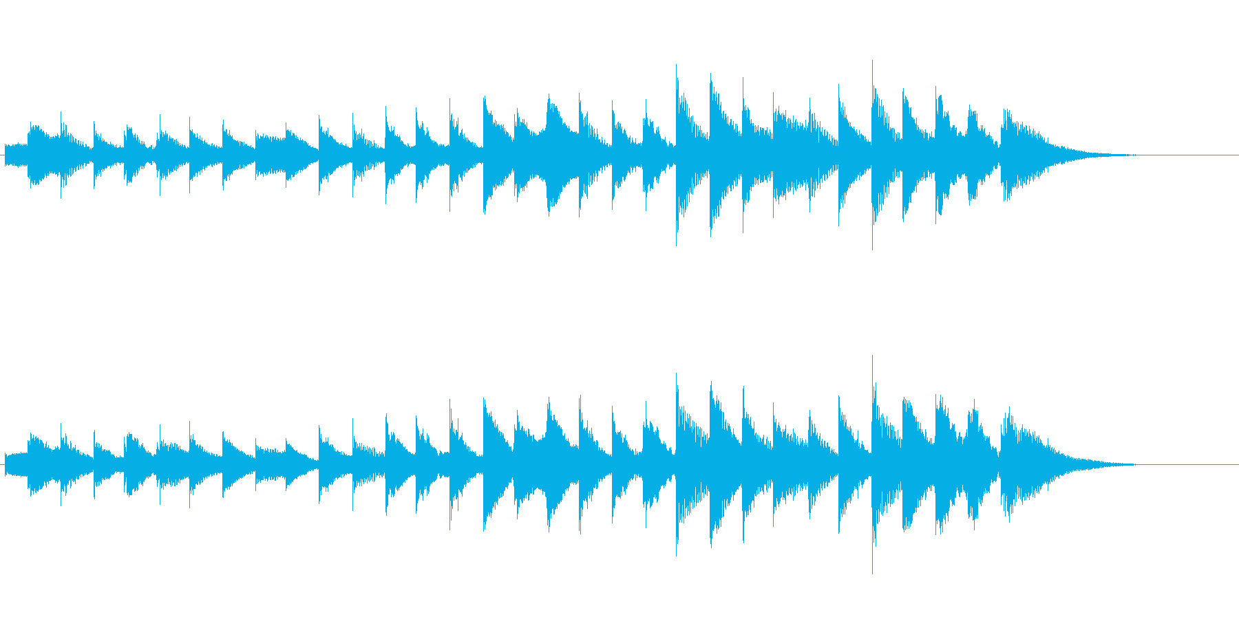 やさしい通知・案内音(低)の再生済みの波形