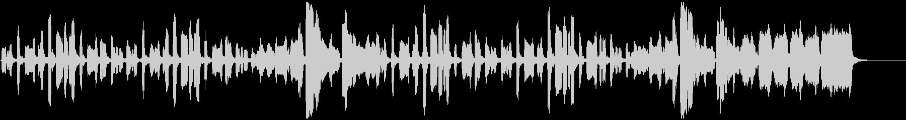 リコーダーのちょっぴり切ない曲の未再生の波形
