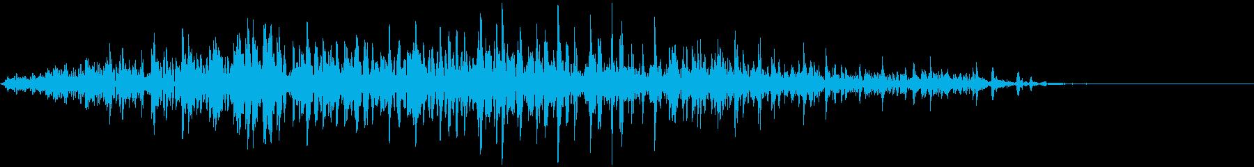 ゾンビの声(動物的)の再生済みの波形