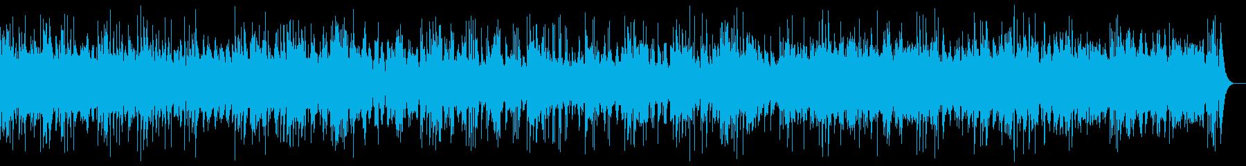 ピアノとシンセのアンビエント_効果音なしの再生済みの波形