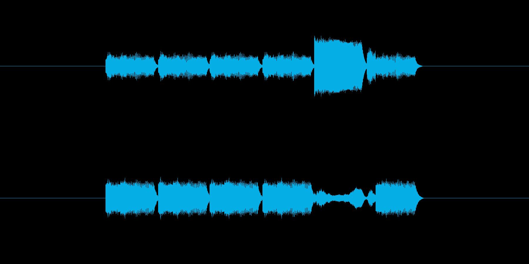 「6」を表す音のカウンターですの再生済みの波形
