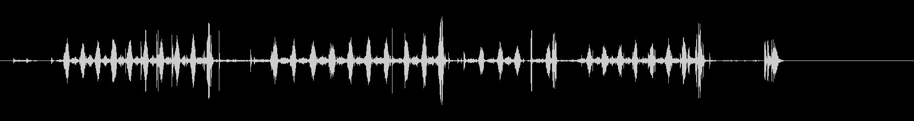 のこぎり、手鋸の未再生の波形