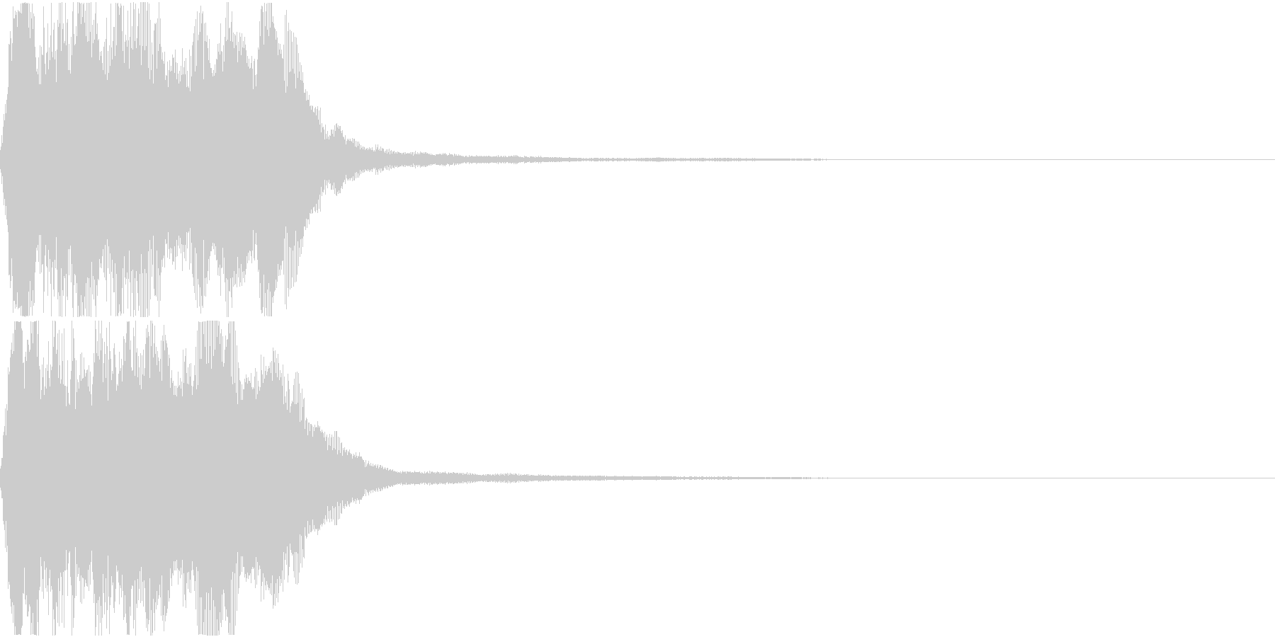 ラッパ ファンファーレ 定番 10の未再生の波形