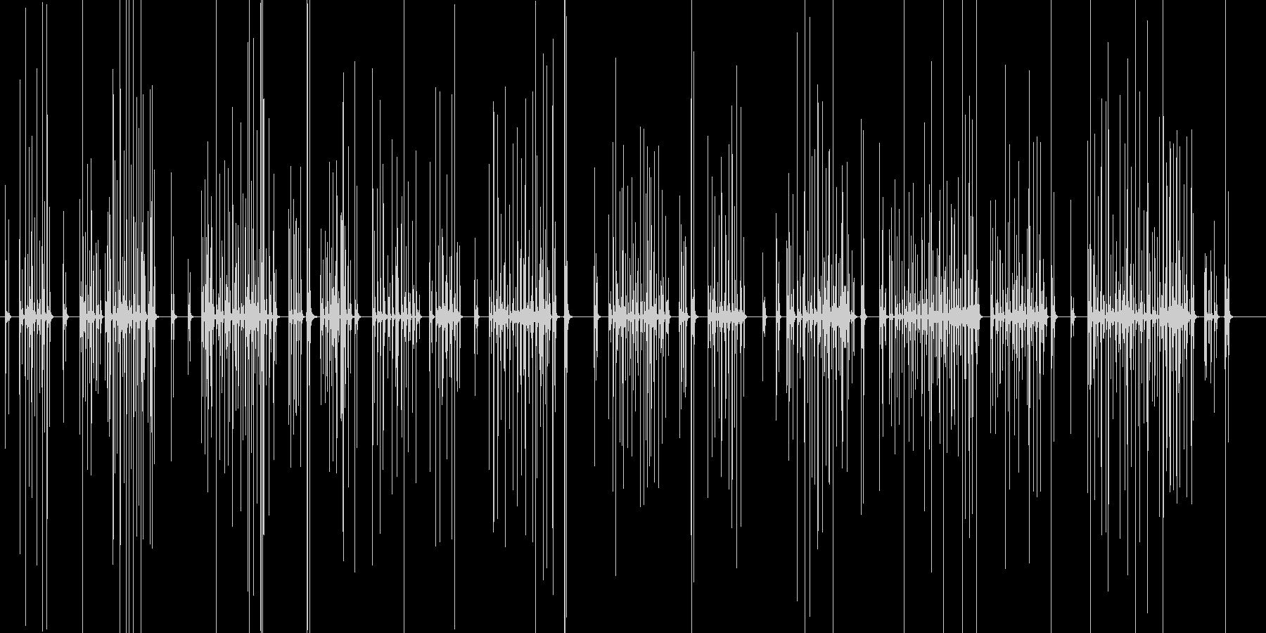 力強いのキーボードのタイピング音の未再生の波形
