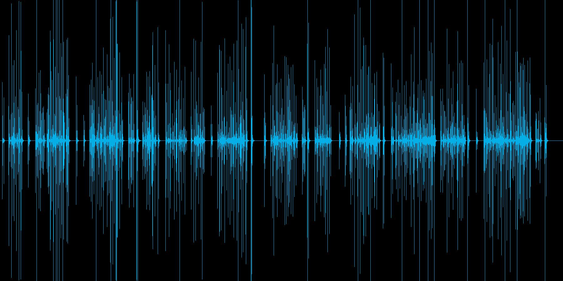 力強いのキーボードのタイピング音の再生済みの波形