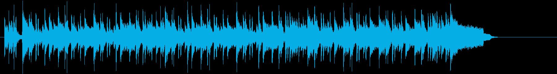 ピアノの旋律が爽やかなファンクBGMの再生済みの波形