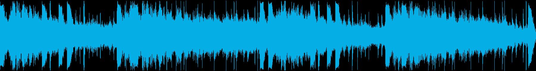 4声のギターによるアンビエント、チルの再生済みの波形