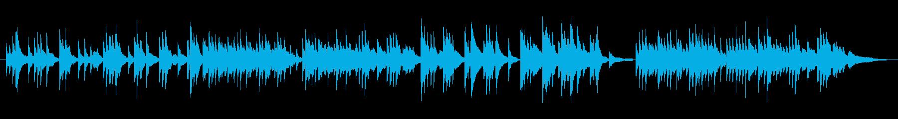 切なく悲しげなピアノBGMの再生済みの波形