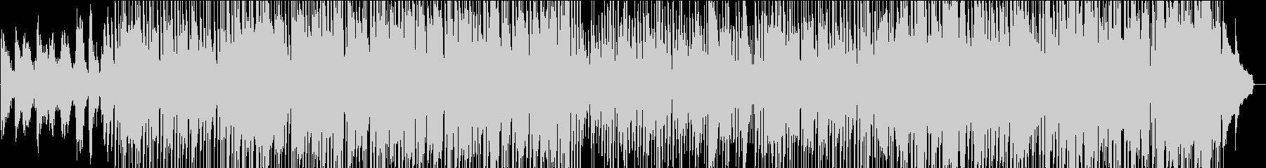 サックスとギターアドリブ満載のJazzの未再生の波形