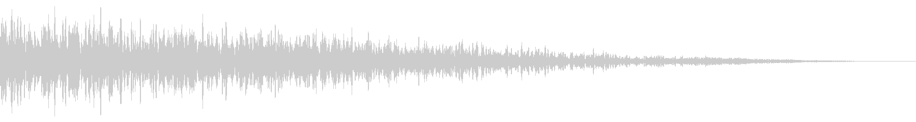 ホラー系アタック音11の未再生の波形