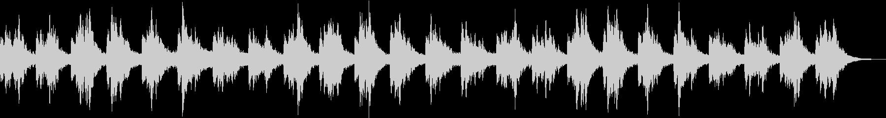 広大な自然に横たわるヒーリング音楽の未再生の波形