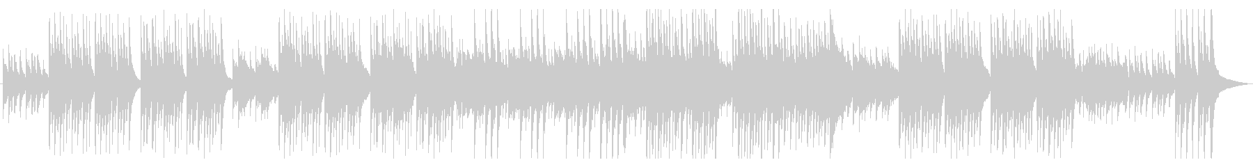 ノスタルジックなアコギとピアノの未再生の波形