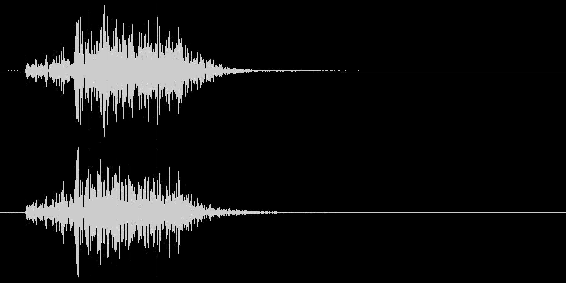 【生録音】お箸の音 34 揃えて皿の上にの未再生の波形