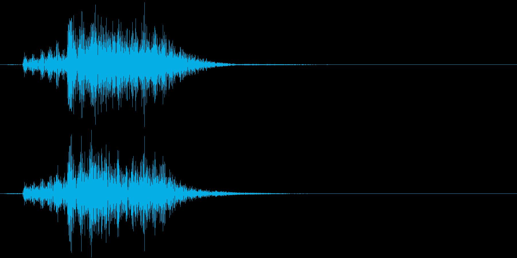 【生録音】お箸の音 34 揃えて皿の上にの再生済みの波形