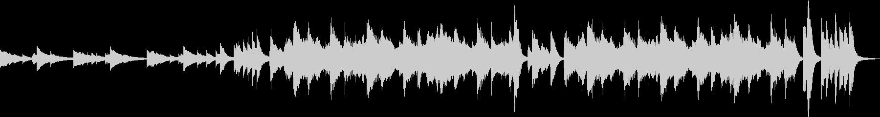 ミステリアスな鉄琴とストリングス 終止の未再生の波形