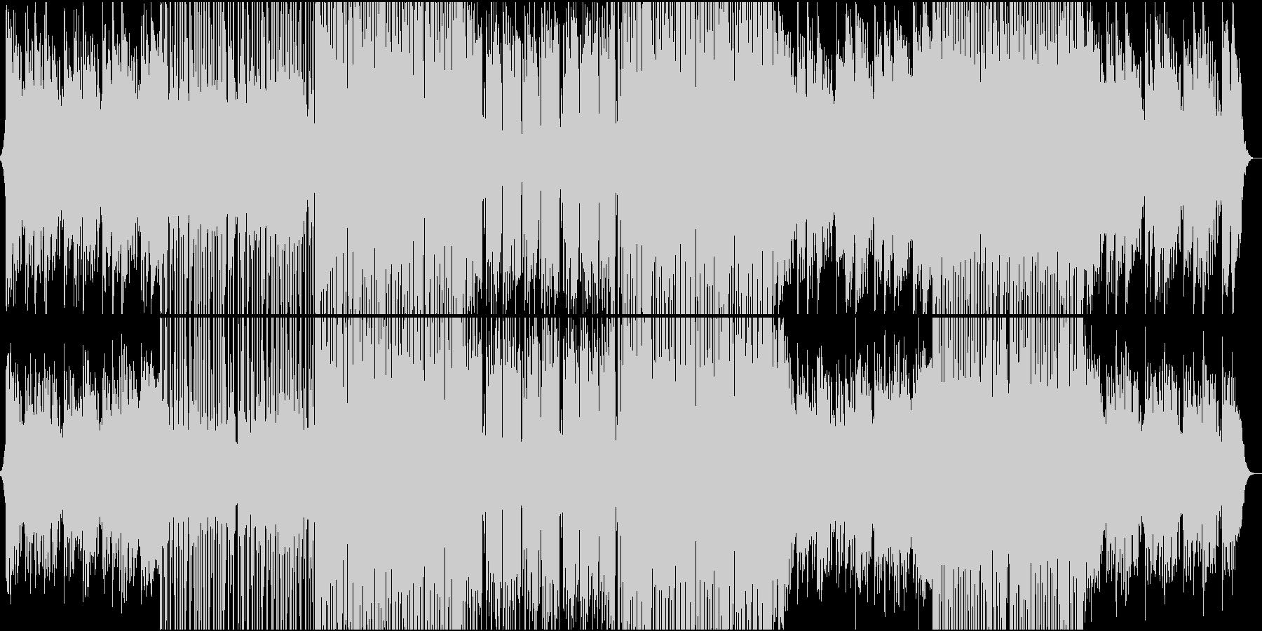 和風と近未来の三味線EDMの未再生の波形