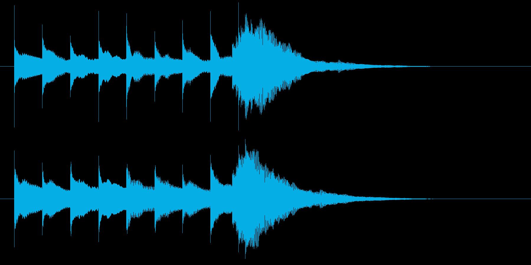 「○○からのお知らせです」的なベルの音の再生済みの波形