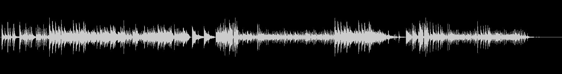 優しいピアノ演奏による静かなバラードの未再生の波形