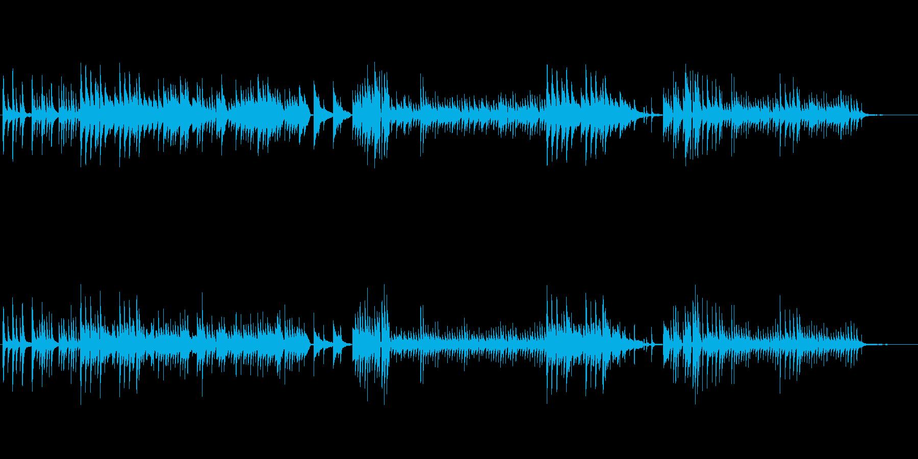 優しいピアノ演奏による静かなバラードの再生済みの波形