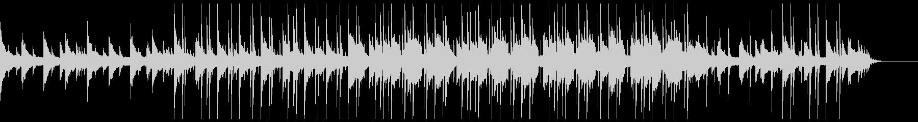 しっとりとしたヒップホップ風BGMの未再生の波形