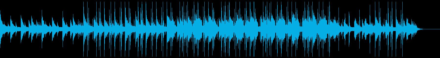 しっとりとしたヒップホップ風BGMの再生済みの波形