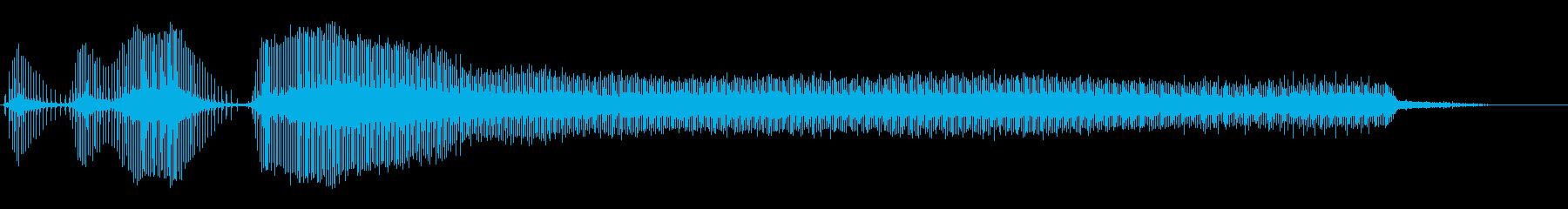 ドリルハンドハンマードリルスタート...の再生済みの波形