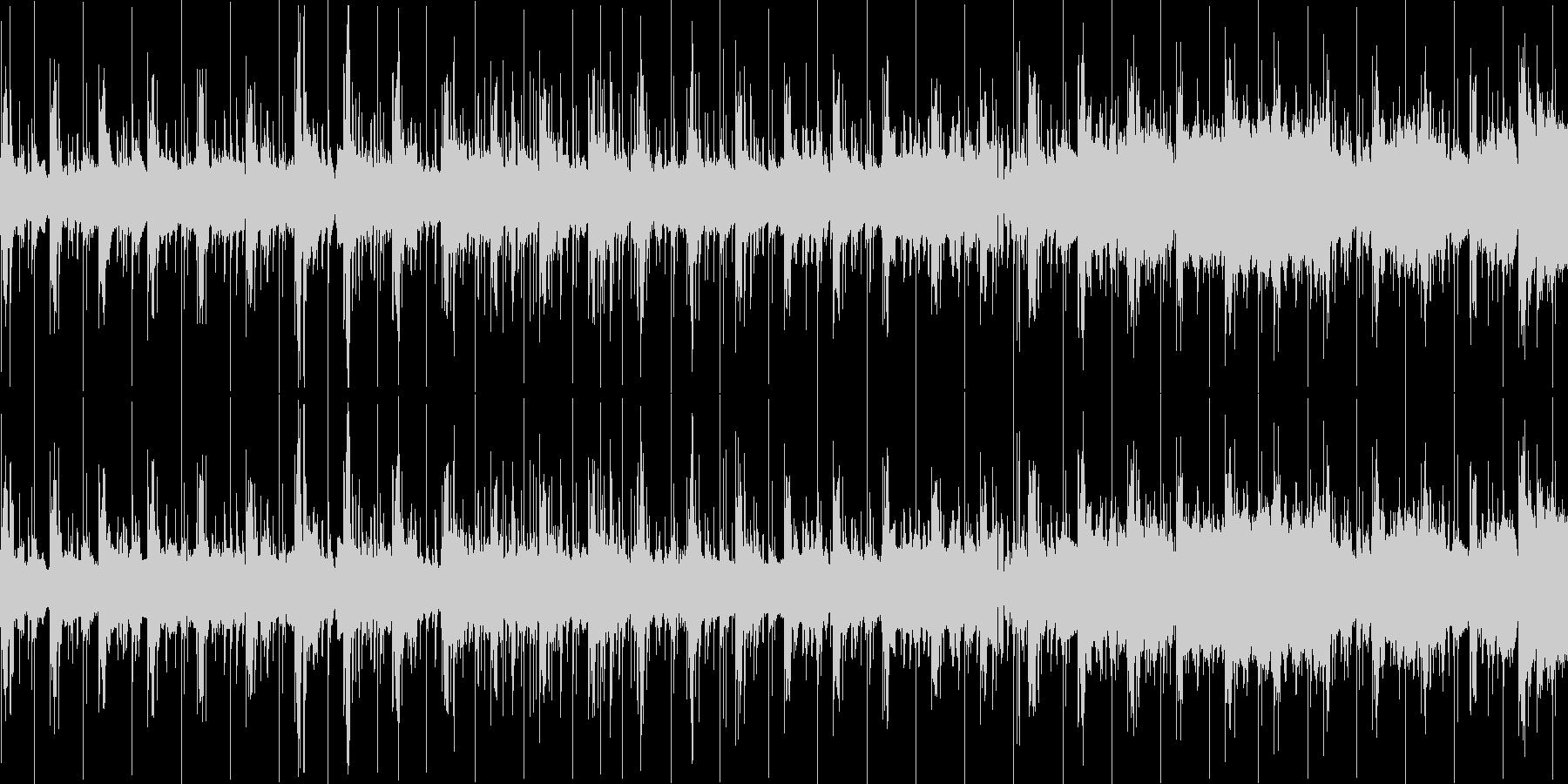 短めの曲ですの未再生の波形