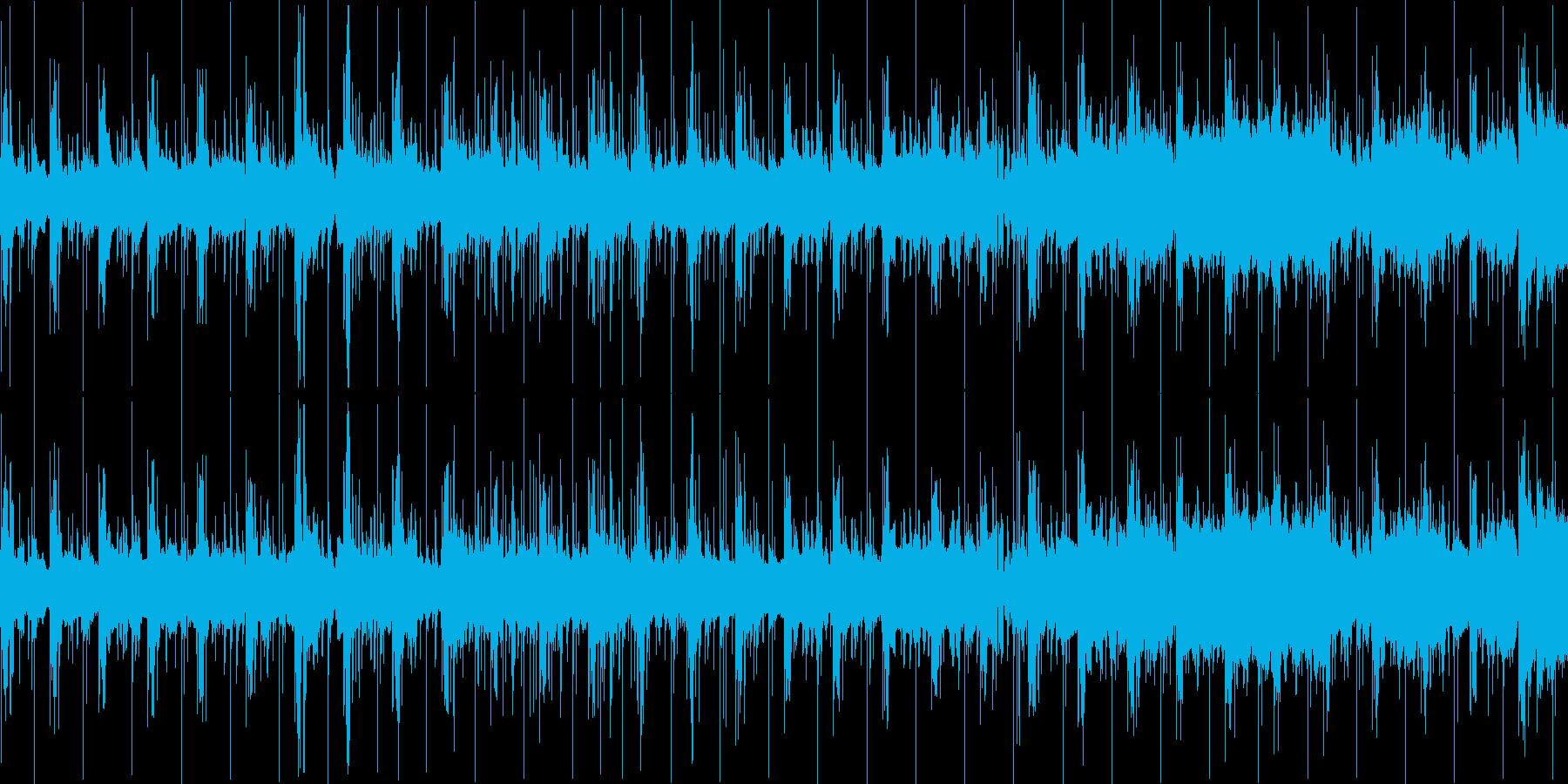 短めの曲ですの再生済みの波形