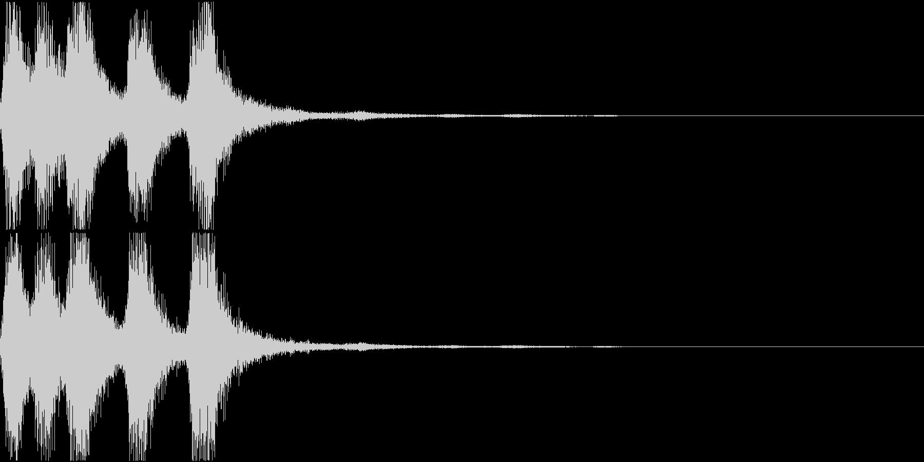 ラッパ ファンファーレ 定番 13の未再生の波形