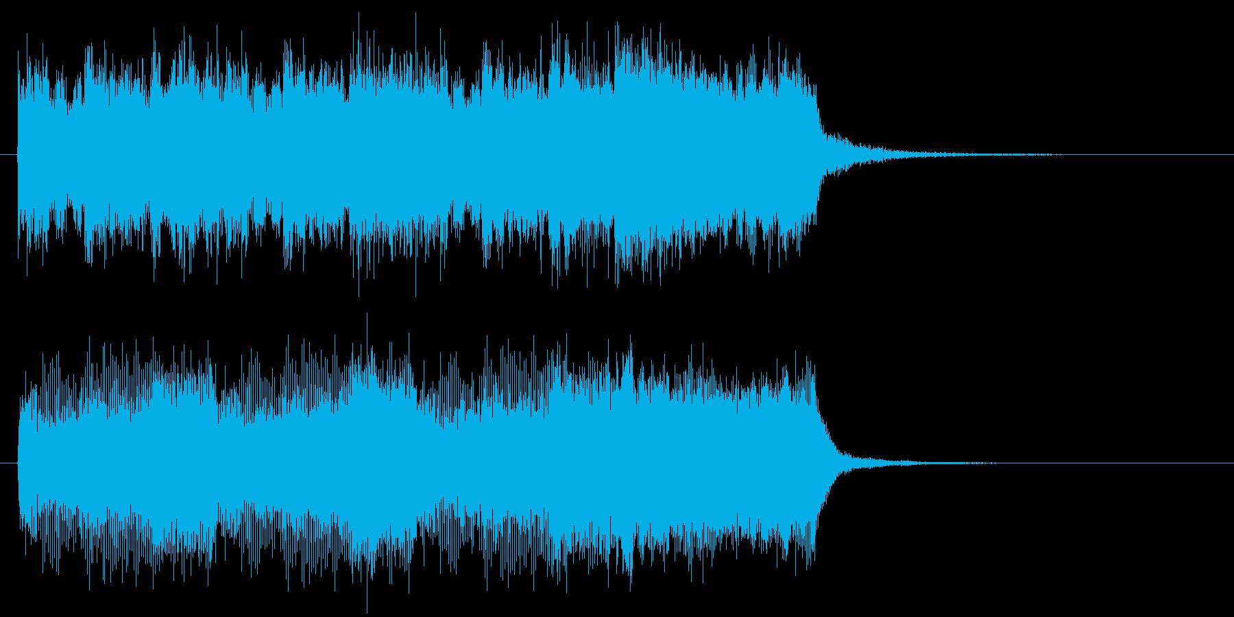 緊張感のあるファンファーレの再生済みの波形