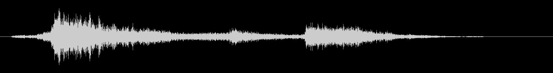 鉄骨・金属【ガシャーン・ガラガラ】落下音の未再生の波形