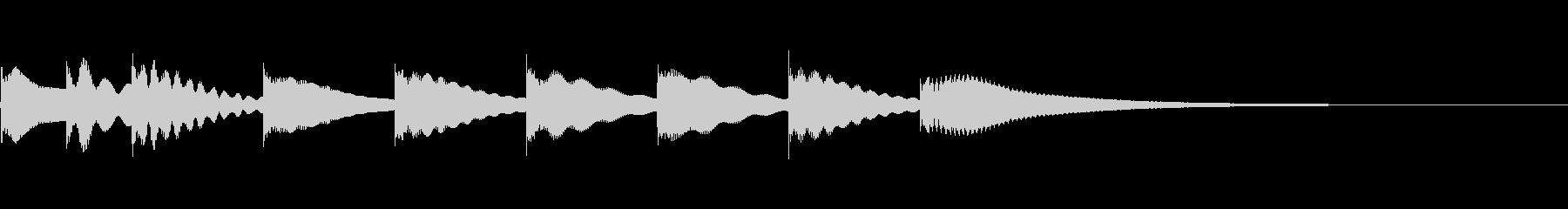 マリンバ(木琴)のかわいいジングル2の未再生の波形