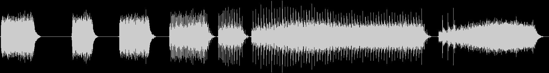 トーンシンセサイザーホワイトノイズ...の未再生の波形
