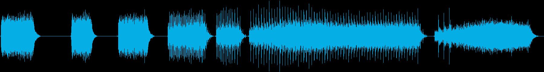 トーンシンセサイザーホワイトノイズ...の再生済みの波形