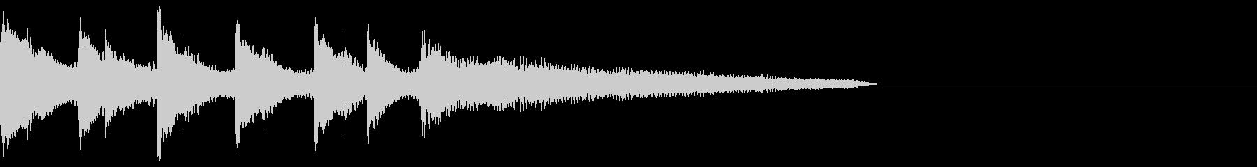 ゲームクリア・シンプルなピアノのジングルの未再生の波形