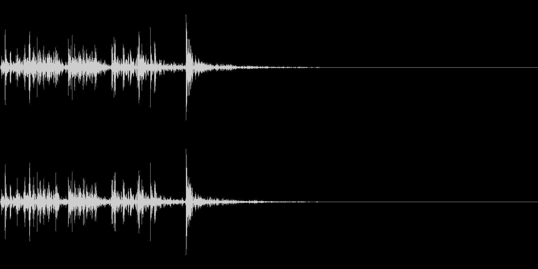 スパーク音-44の未再生の波形